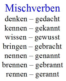 Mischverben